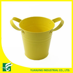 Powder Coated Metal Garden Decoration Flower Pot