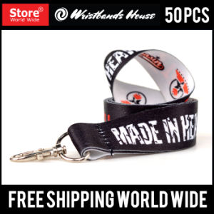 Custom Full Color Printed Lanyard Silicone Bracelet pictures & photos