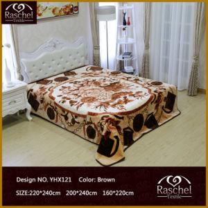 Mink Blanket of 100% Polyester Korean Super Soft Raschel Style Embossed Blanket