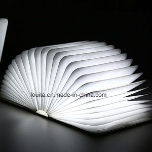 Customized Logo Flexible Wood Cover LED Table Lamp pictures & photos