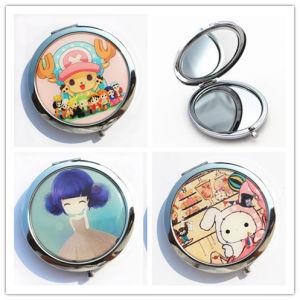 Souvenirs Customized Epoxy Portable Cosmetic Pocket Mirror Metal