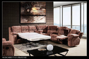 Living Room Furniture Fabric Recliner Corner Sofa with Sofa Bed pictures & photos