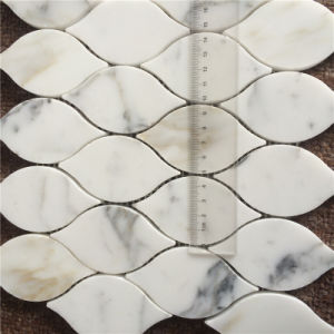The Luxurious Leaf Design Calacatta Gold Marble Mosaic Tile for Home Decoration pictures & photos
