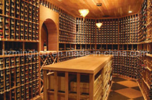 Luxury Commercial Solid Timber Wood Wine Cellar with Wine Rack pictures & photos