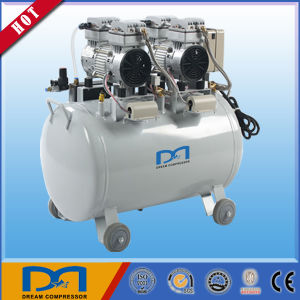 50L 2HP AC Power Piston Portable Mute Silent Low Noise Oil Free Medical Dental Air Compressor with Air Dryer pictures & photos
