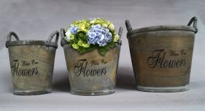 Manufacturers Selling Metal Ribbon Hand Word High-Quality Practical Flowerpot pictures & photos