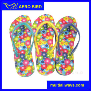 Beach Flip Flop with Colorful Flower Design pictures & photos