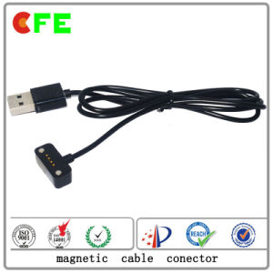 4pin Black Wearable Magentic Charger Connector pictures & photos
