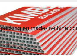 White Sheet Black Color Printing Polypropylene PP Twin Wall Corrugated Plastic Sheet/Correx Coroplast Corflute Sheet pictures & photos