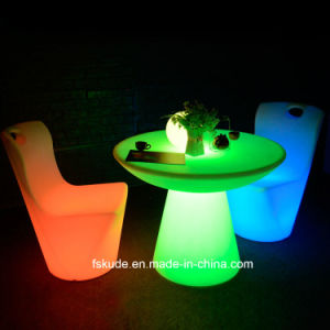 Confortable LED Furniture Glowing Baroque Bar Chair pictures & photos