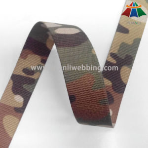 25mm 50mm Heat Transfer Print Camouflage Pattern Polyester Webbing pictures & photos