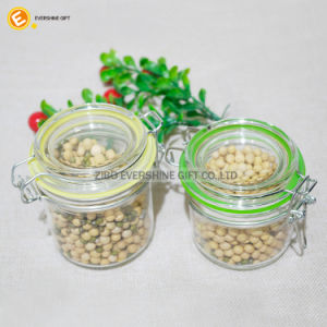 Wooden Lid Glass Jar of Glassware Storage Glass Jar pictures & photos