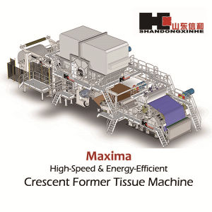 Most Advanced 2850/1000 High Speed Crescent Tissue Paper Making Machine