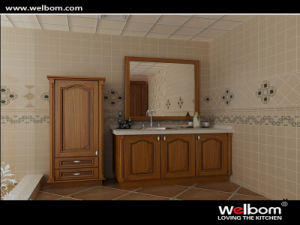 2015 Welbom Chinese Style Red Solid Wood Bathroom Vanity pictures & photos