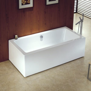 Cupc Real One Piece Square Freestanding Acrylic Bathtubs pictures & photos