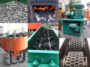 Complete Working Line of Charcoal Briquette/Ball Making Machine for Sale pictures & photos