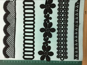 Black Color Garment Accessories Polyester Lace pictures & photos