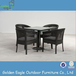 Black Color Waterproof Dining Table Garden Furniture (FP0021)