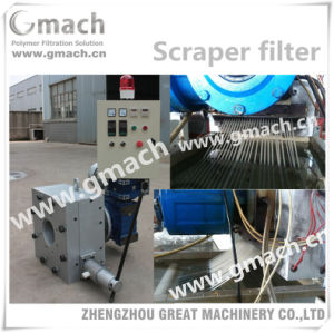 Rotation Scraper Type Melt Filter for Plastic Granules Making Machine pictures & photos