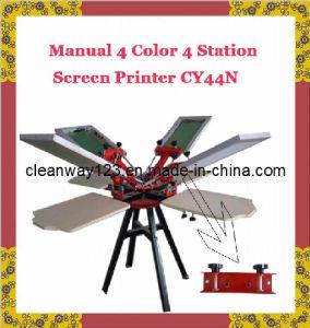 Manual 4 Coloe 4 Station Screen Printing Press (CY-44N)
