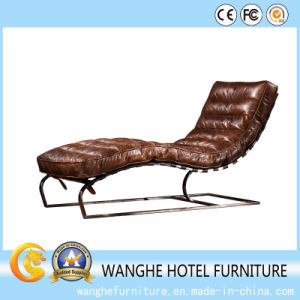 Hot Selling Garden Furniture Disassembly Oudoor Leather Chaise pictures & photos