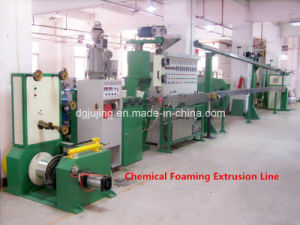 Coaxial Cable Twin Layers Chemical Foaming Extrusion Line Cable Making Machine pictures & photos