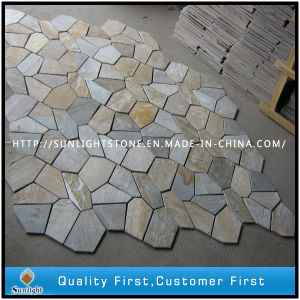 Meshed Irregular Black/Grey /Rusty Slate for Paving Stone pictures & photos