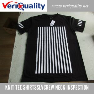 Knit Tee Shirt/Sslvcrew Neck Quality Control Inspection Service at Ningbo, Zhejiang pictures & photos