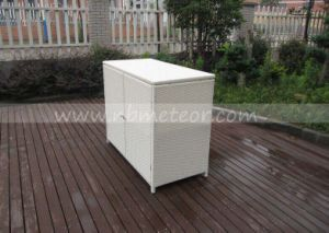 Patio Wicker Rattan Furniture Shoe Cabinet / Showbox for Outdoor and Indoor (MTC-303) pictures & photos