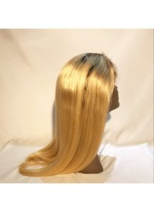 """Natural Hairline Dark Root Lace Wig Blonde Wig1b 10""""-15"""" pictures & photos"""