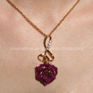 Gift- 24k Gold Rose Necklace