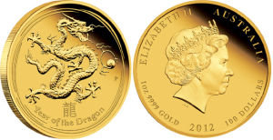 Year of The Dragon Gold Coin