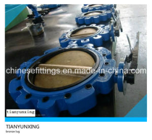 Lever Lug/Wafer API Brass/Bronze Butterfly Valve pictures & photos