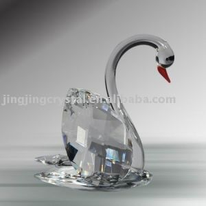 Favorites Compare Clear Crystal Swan for Wedding Favors pictures & photos