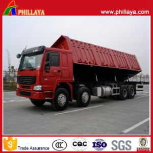 Heavy Duty 3 Axles Semi Trailer Side Dump Truck pictures & photos