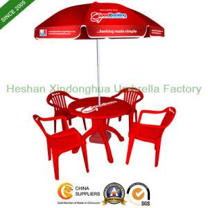 Custom Logo Printed Promotional Beach Umbrella for Outdoor Furniture (BU-0040) pictures & photos
