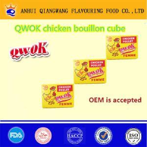 Qwok Chicken Poulet Bouillon Cube Chicken Seasoning Cube Chicken Stock Cube (001)