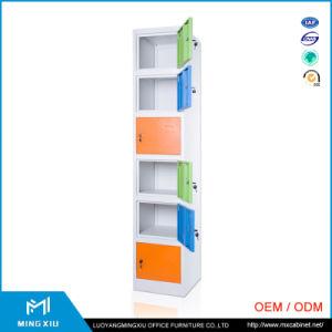 Mingxiu 6 Door School Used Steel Lockers Cabinets / Metal Locker Closet pictures & photos