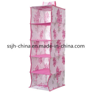 5 Compartment Hanging Storage Organizer with Pattern (TN-BXH2506)