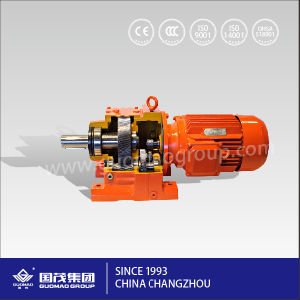 High Quality Guomao Light Weight Parallel Shafts Gr Series Helical Gearbox for Concrete Mixer