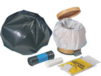 HDPE Black Star Seal Trash Plastic Bag on Roll pictures & photos
