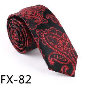 New Design Fashionable Paisley Silk/Polyeter Necktie Fx-82 pictures & photos