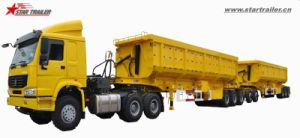 Tipper Trailer Dump Trailer-B-Double with Big Capacity pictures & photos