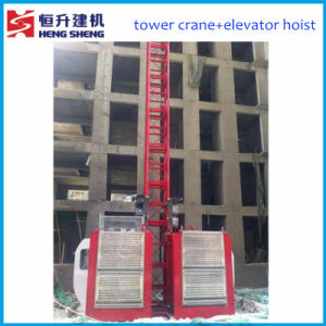 Double Cage 1ton Construction Hoist by Hstowercrane pictures & photos