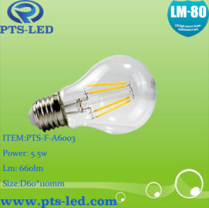 A60 4W 5W 6W 7W 8W 9W LED Filament Bulb with Dimmable and Non-Dimmable pictures & photos