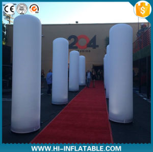 Best Design Event/Advertising Decoration Lighting Inflatable Pillar, Column/Tube/Cylinders with LED Bulb