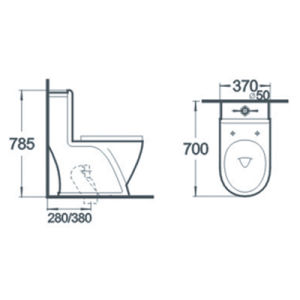 Bathroom Wc Pan Siphonic One Piece Ceramic Toilet pictures & photos