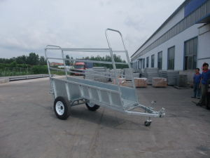 Heavy Duty Adjustable Galvanized Cattle Ramp Trailers pictures & photos