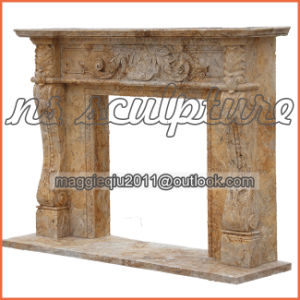 Antique French Fireplace Mantel/Fireplace Surround/Overmental pictures & photos