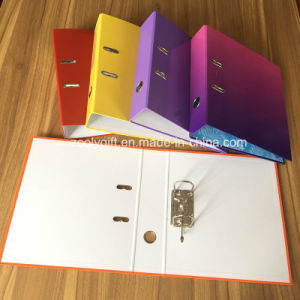 "Assorted Color Printing Cardboard A4 3"" Paper Lever Arch File pictures & photos"